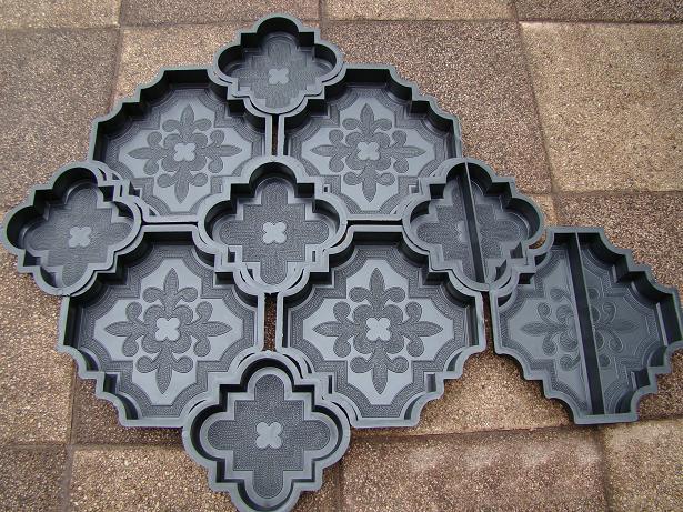 Изготовление пластиковых форм для тротуарной плитки
